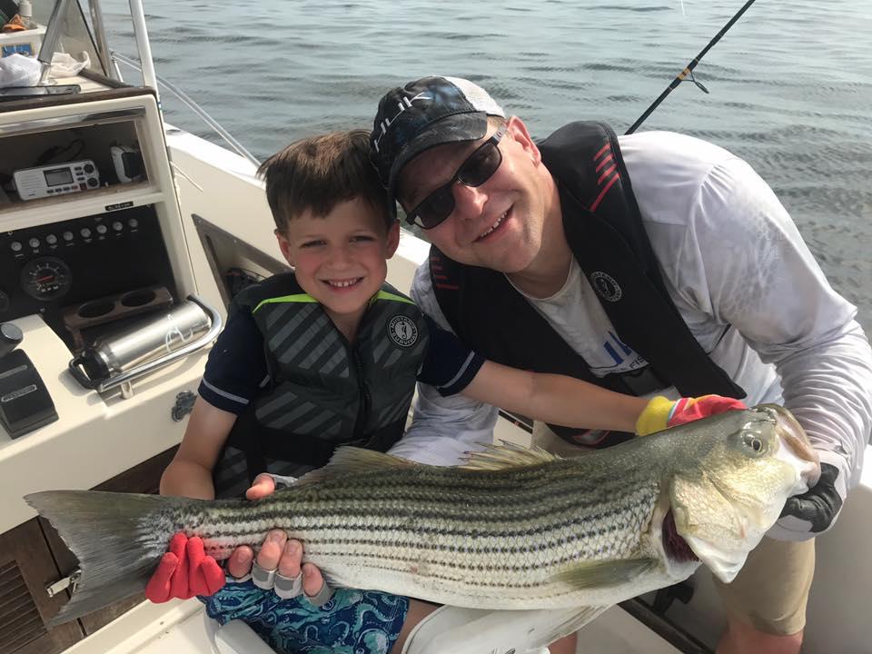 Rockfishing the Chesapeake Bay.