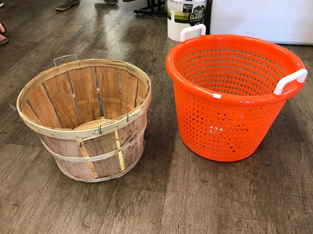 Bushel Basket vs. Orange Fish Basket