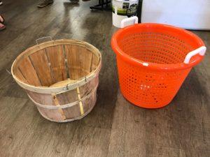 Bushel Basket vs. Orange Fish Basket