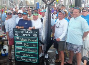 1st place white marlin currently worth 2.6 million!