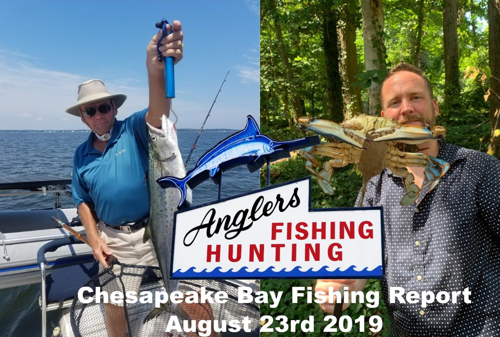 Chesapeake Bay Fishing Report-August 23rd 2019